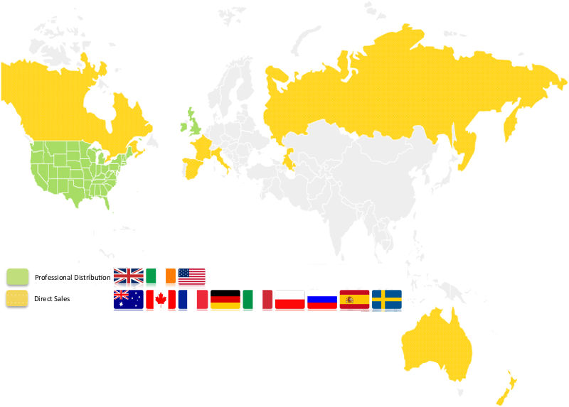 Easyscribe Worldwide Sales Map